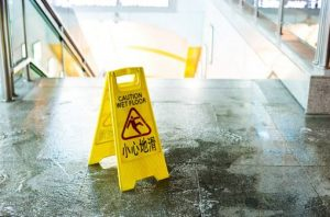 slip and fall accident on wet floor