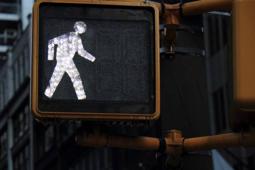 pedestrian walk signal los angeles