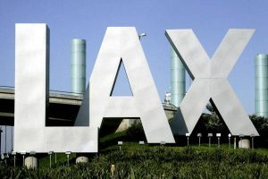 LAX airport entrance