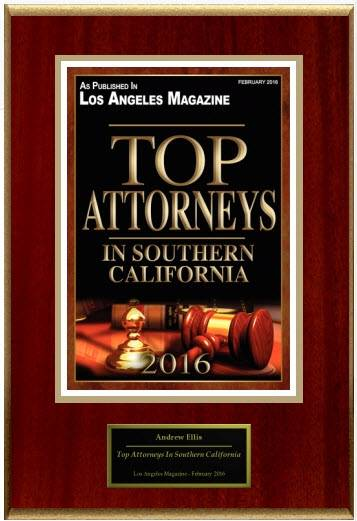 Top Attys in Southern CA Plaque
