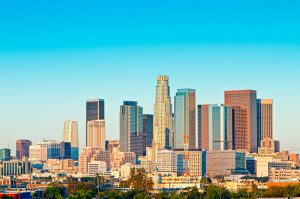 los angeles skyline daytime