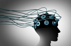brain injury treatment with wired electrodes