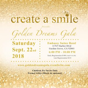 create a smile golden dreams gala